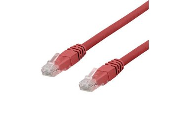 DELTACO U/UTP Cat6a patchkabel, LSZH, 7m, Red