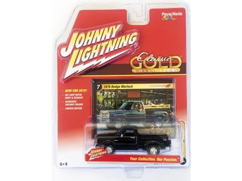 1978 Dodge Warlock Pickup 1/64 Johnny Lightning svart