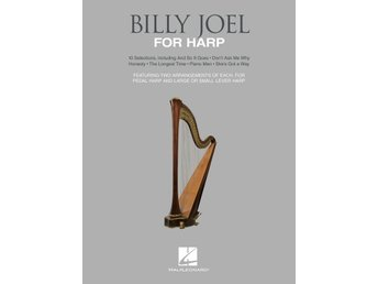 Bok med noter:  Billy Joel arrangerad för harpa