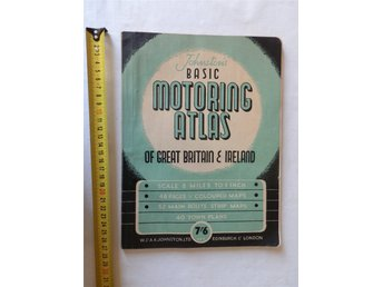 Basic Motoring Atlas of Great Britain and Ireland på 32 sidor i A4 storlek