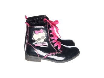 Monster High, Boots, Strl: 28, Svart/Rosa
