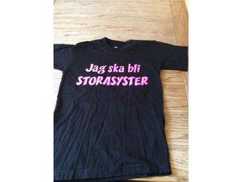 T-shirt jag ska bli storasyster stl 8 år - Huddinge - T-shirt jag ska bli storasyster stl 8 år - Huddinge