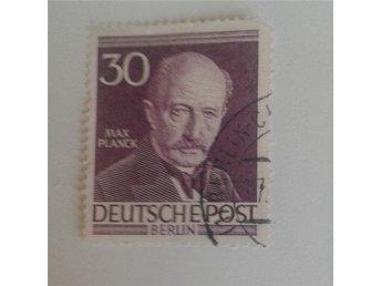Berlin (Väst), Mi 99, 30 Pf, Max Planck, Mi-värde 12 euro - Vätö - Berlin (Väst), Mi 99, 30 Pf, Max Planck, Mi-värde 12 euro - Vätö
