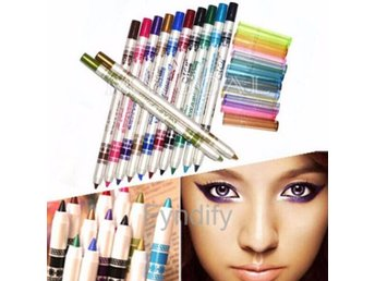 12st Glitter Lip liner Eye Shadow Eyeliner Pen Makeup Cosmetic Set