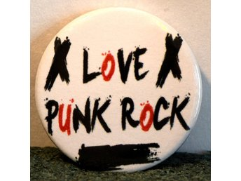 Punk - badge/pin/knapp - 25 mm