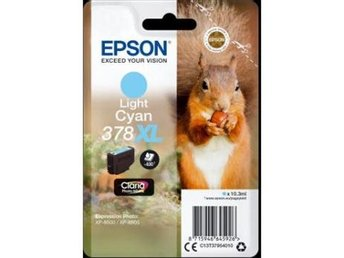 Epson Singlepack Light Cyan 378XL Claria Photo HD Ink