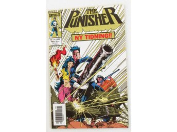 THE PUNISHER 1990 nr 1 förstanr nyskick VF-NM REA 9kr