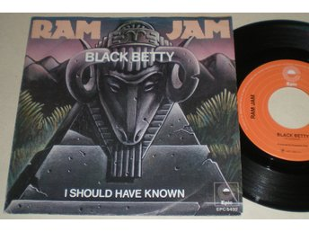 Ram Jam 45/PS Black Betty 1977 VG++