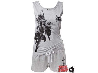 Nintendo Zelda Breath of the Wild Pyjamas Sett Grå (Medium)