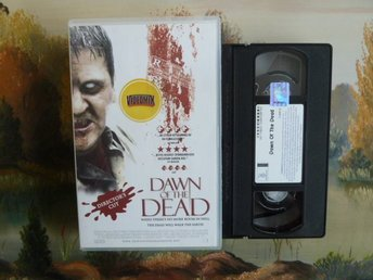 DAWN OF THE DEAD, THRILLER, VHS, TILLÅTEN FRÅN 15 ÅR, VIDEOKASETT, FILM