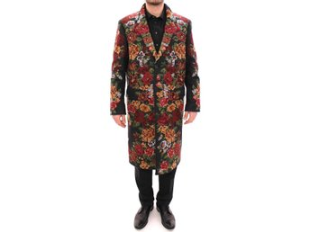 Dolce & Gabbana - Multicolor Baroque Brocade Floral Coat Jacket