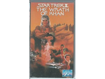 STAR TREK - THE WRATH OF KHAN - VHS ( SVENSKT TEXT )