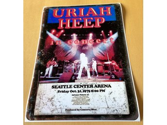URIAH HEEP SEATTLE CENTER ARENA 1975 PHOTO POSTER
