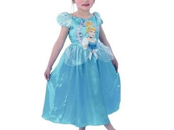 ASKUNGEN Princess Disney Klänning Story Time CINDERELLA 5-6 år 110 - 116 Fancy