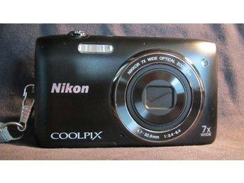 Kamera Nikon Coolpix S3400. 20 megapixel. 7x optisk zoom. Inkl väska. - Rångedala - Kamera Nikon Coolpix S3400. 20 megapixel. 7x optisk zoom. Inkl väska. - Rångedala