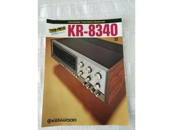 Kenwood KR-8340 Two-Four channel Reciver Försljnings brochyr