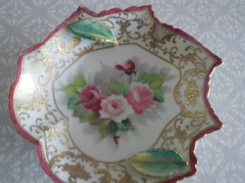 ÄLDRE SKÅL / FAT  MÄRKT CHUBU  CHINA  HANDPAINTED    KINA