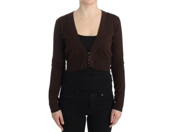 Cavalli - Brown cropped wool cardigan