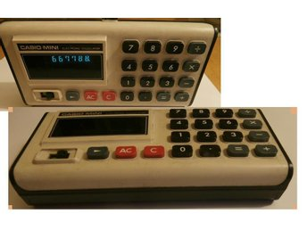 Casio Mini - CM 605 Vintage Early (small zero) VFD Calculator -  working!