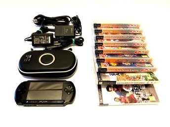 PSP Sony Playstation Portable PSP-E1004 9 Spel Laddare MS4GB