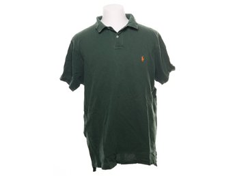 Polo Ralph Lauren, Pikétröja, Strl: XL, Grön/Orange
