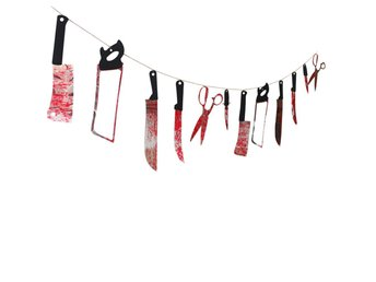 12PCS Halloween Hanging Props Knives