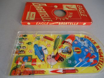 DAN DARE SPACE BAGATELLE ca 1960 pinball METTOY Eagle Comics ORIGINAL BOX