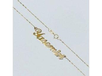halsband namn guld