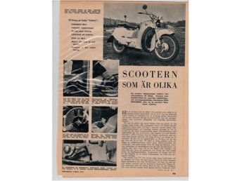 Guzzi Galetto scooter 1951. Teknikens Värld provkör.
