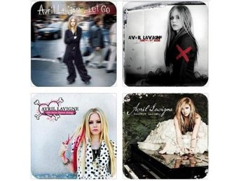 AVRIL LAVIGNE COASTERS - Set of 4