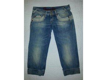 Snygga 3/4-jeans med sliten look från Pepe Jeans, 26 tum - Malmö - Snygga 3/4-jeans med sliten look från Pepe Jeans, 26 tum - Malmö