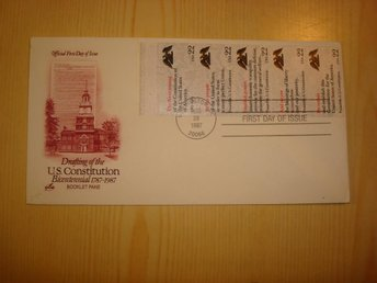 Drafting of the U.S. Constitution 1787-1987 USA förstadagsbrev FDC