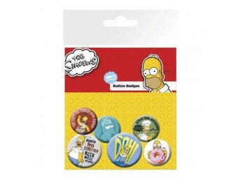 Simpsons Knappar Homer 6-pack
