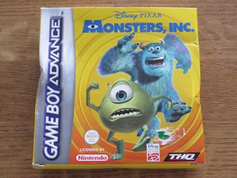 "Game Boy Advance ""Monsters Inc"" med originalkartong, instruktionsbok"