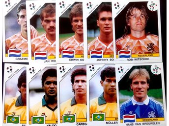 PANINIs  STICKERS - ITALY 90 -  DUTCH  and BRASILIAN PLAYERS.