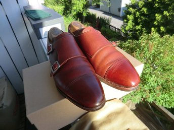 Meermin double monks UK 9 country grain danite sole