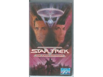 STAR TREK - THE FINAL FRONTIER  - VHS ( SVENSKT TEXT )