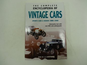 Complete encyclopedia of vintage cars  - Sports cars & sedans 1886-1940