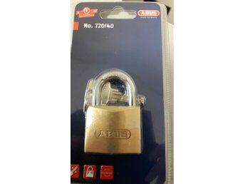 Hänglås./Abus 75/40 Brass Padlock With 2 Dimple keys
