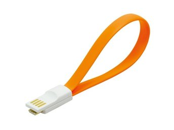 MicroUSB-kabel Magnetisk Orange