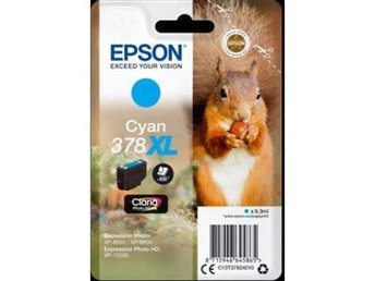Epson Singlepack Cyan 378XL Claria Photo HD Ink