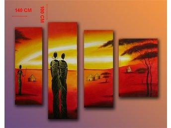 Abstrakt, oljemålning 140x100 cm - Tollarp - Abstrakt, oljemålning 140x100 cm - Tollarp