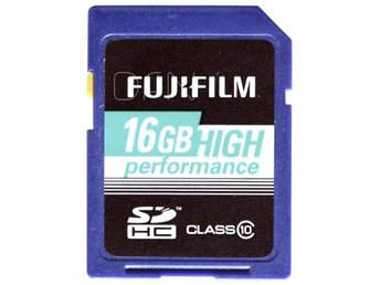 Fujifilm 16GB SDHC Kort High Performance / Class 10