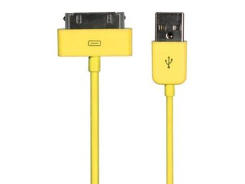 USB Laddnings och data kabel för iPhone/iPod/iPad Gul