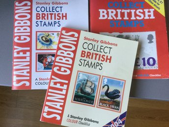 "3st. Kataloger Stanley Gibbons ""Collect BRITISH Stamp"" 1993, 1998 och 2004."
