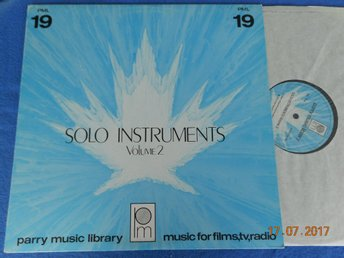 SOLO INSTRUMENTS Vol 2 Library LP PARRY PML 19, Kanada 1979