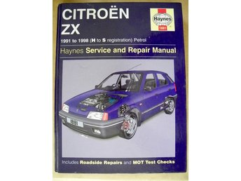 HAYNES 1881 Service and Repair Manual Citroën ZX 1991 to 1998 Petrol