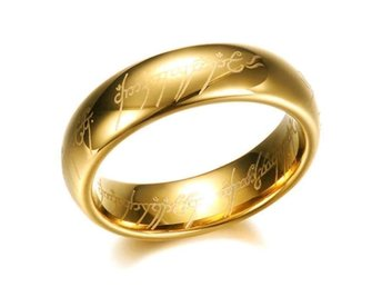 Ring Frodo Lord of the Rings Tolkien Hobbit guld Saruman cosplay lajv st 9