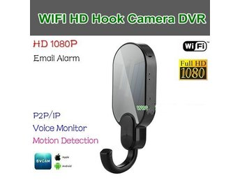 WIFI Hook Kamera DVR, HD1080P / 30fps, APP BVCAM, Video & Foto & Motion Detect