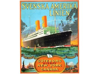 MS GRIPSHOLM SVENSKA AMERIKA LINIEN REKLAMAFFISCH 1925 MARIN A1 - Helsingborg - MS GRIPSHOLM SVENSKA AMERIKA LINIEN REKLAMAFFISCH 1925 MARIN A1 - Helsingborg